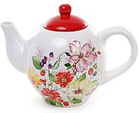 Чайник заварочный Bona Яркое лето 890 мл Белый с рисунком BD-844-840psg, КОД: 295864