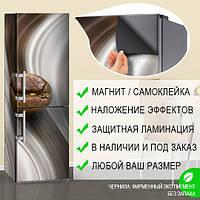 Наклейка с кофейным зерном магнитная 180 х 60 см, Лицевая