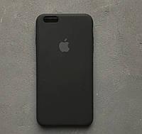 Силиконовый чехол Apple Silicone Case для iPhone 6/6s black Люкс качество чехлы на айфон черный