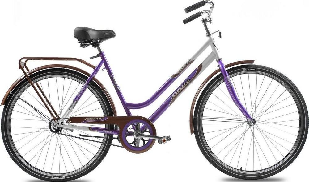 """Городской велосипед Ardis ЛЫБИДЬ R28"""" 22"""" с багажником (Фиолетовый)"""