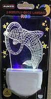 Светодиодный детский ночник 3D AUKES