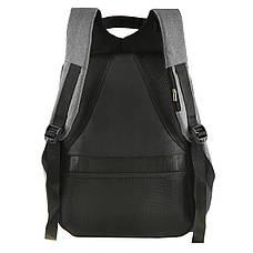 Городской рюкзак под ноутбук Bobby антивор 41х29х14 USB порт, водоотталкивающая ткань черно-серый  ксНЛ1688сер, фото 3