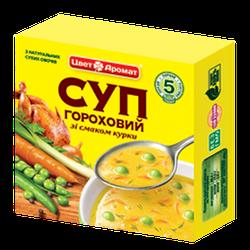 """Суп гороховий """"Курячий"""" брикет 160 г."""