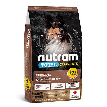 Беззерновой сухой корм для щенков и собак с индейкой, курицей и уткой T23 NUTRAM 11,4 кг