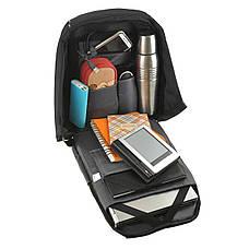 Городской рюкзак под ноутбук Bobby антивор 41х29х14 USB порт, непромокаемый,  черный  ксНЛ1688ч, фото 3