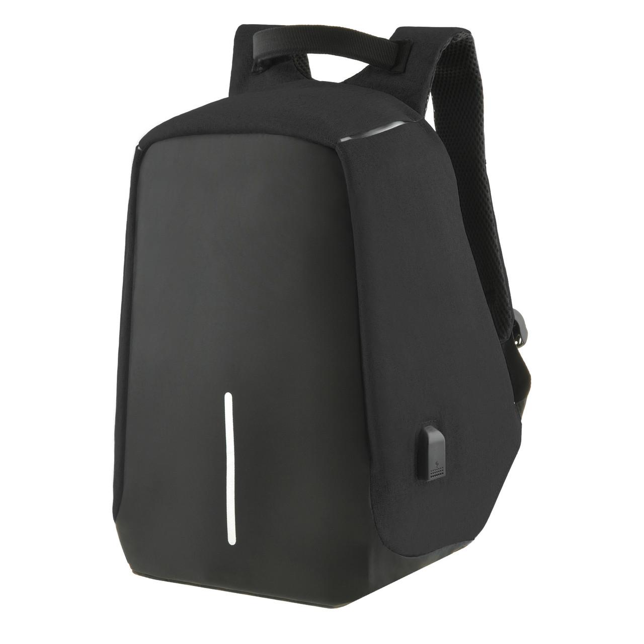 Городской рюкзак под ноутбук Bobby антивор 41х29х14 USB порт, непромокаемый,  черный  ксНЛ1688ч