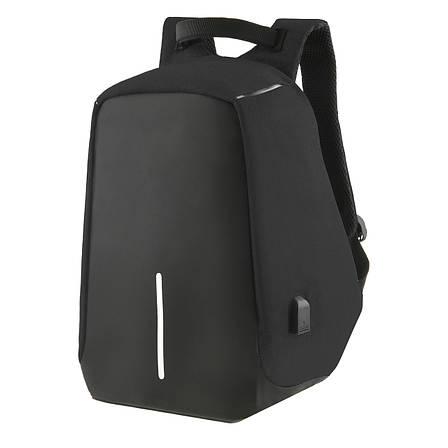 Городской рюкзак под ноутбук Bobby антивор 41х29х14 USB порт, непромокаемый,  черный  ксНЛ1688ч, фото 2