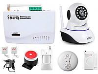 GSM сигнализация Kerui G10A + WI-Fi IP камера для одно комнатной квартиры SDJKSF67DJFD, КОД: 1581839
