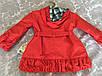 Красное пальто для девочки с капюшоном, фото 2