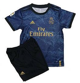 Форма футбольная Реал Мадрид 19/20 (Real Madrid) синяя гостевая (рост 134-164см)
