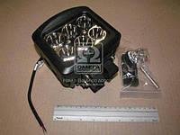 Фара LED прямоугольная 60W, 6 ламп, 135*120*105мм, узкий луч 12/24V (Китай) 27100100