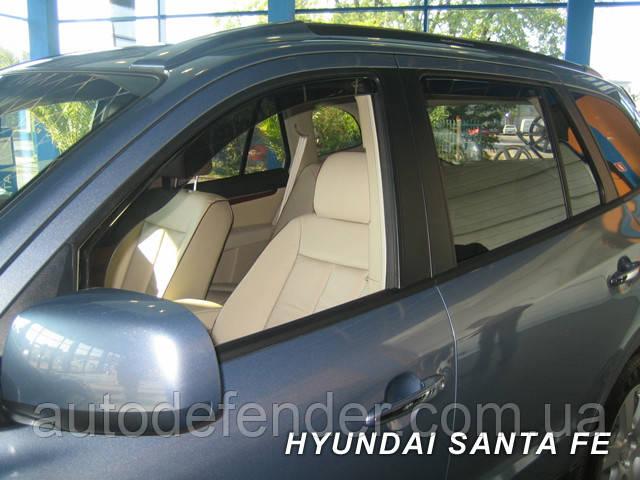 Дефлекторы окон (вставные!) ветровики Hyundai Santa Fe 2006-2012 4шт., HEKO, 17243