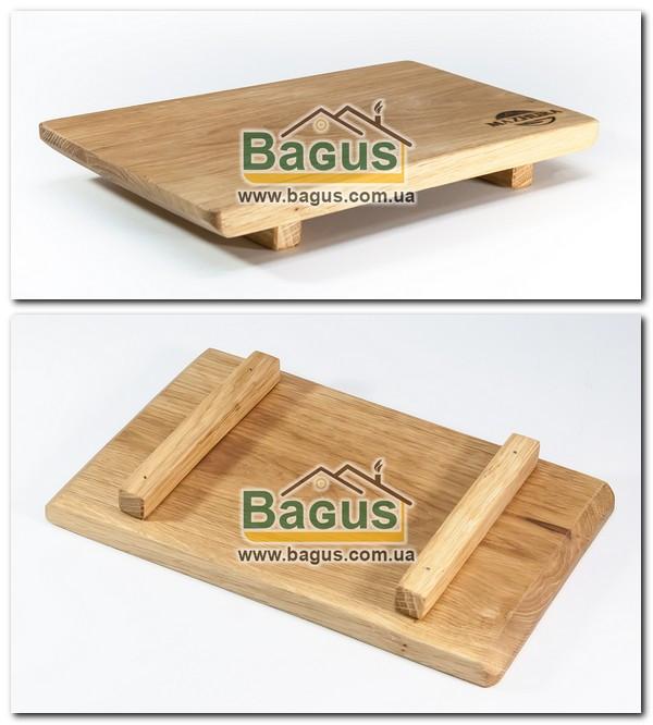 Деревянная подставка 24х15х3см (дуб) для подачи mz423986