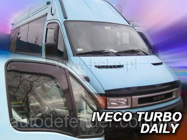 Дефлекторы окон (вставные!) ветровики Iveco Turbo Daily 1999-2006, HEKO, 18105