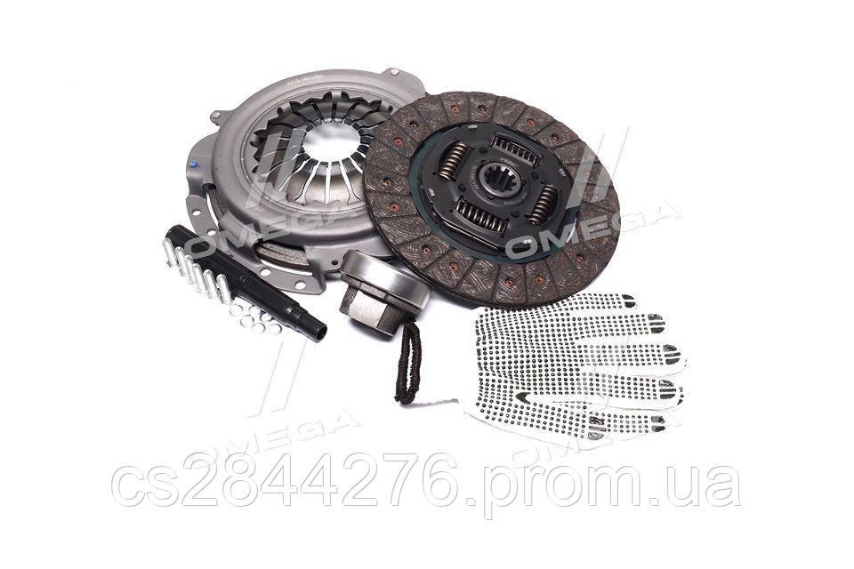 Сцепление ГАЗ двигатель 4215, 4216 (диск нажимной+ведомый+подшник ) (RIDER) 4216-1601000