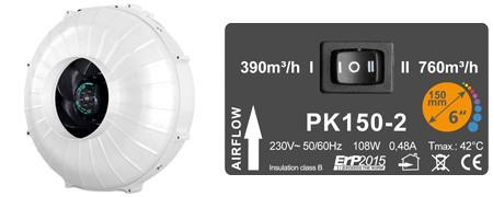 Вентилятор Prima Klima 150 мм 2 скорости