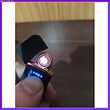 Запальничка спіральна USB ZGP чорна, фото 3