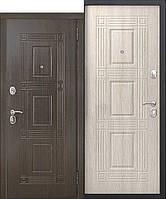 Дверь входная металлическая Вікторія 60мм Темний кипарис/Листвениця мокко 2 замка