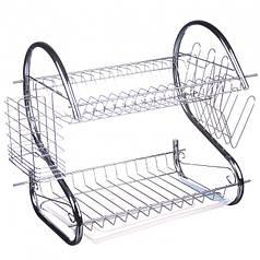 Настольная сушилка для посуды с поддоном сушка 2 яруса A-Plus 1154