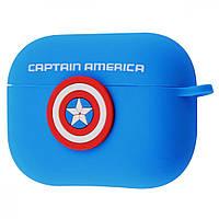 Чехол Marvel Avengers Case (TPU) for AirPods Pro captain-america