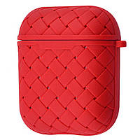 Чехол Weaving Case (TPU) for AirPods 1/2 red