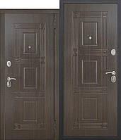 Дверь входная металлическая Вікторія 60мм Темний кипарис/Темний кипарис 2 замка