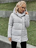"""Стеганая зимняя женская куртка """"Зефир"""" с воротником-капюшоном"""