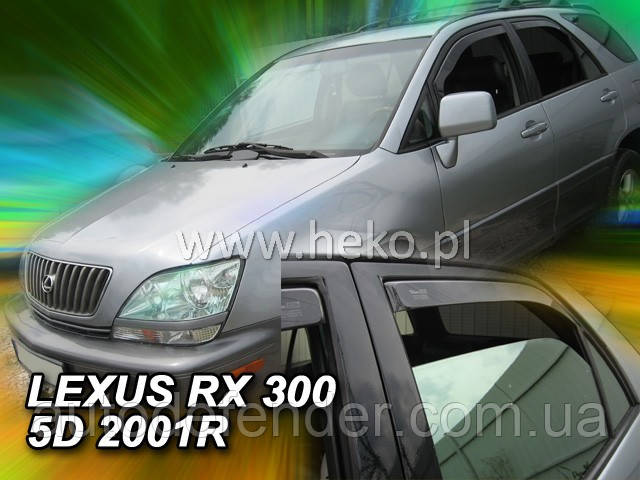 Дефлекторы окон (вставные!) ветровики Lexus RX I 1998-2003 4шт., HEKO, 30011