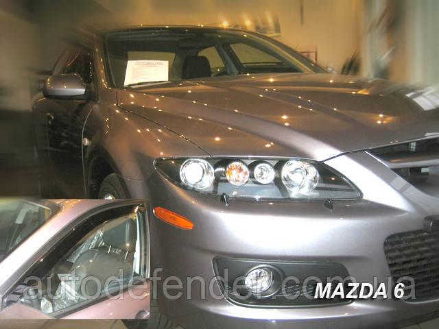 Дефлекторы окон (вставные!) ветровики Mazda 6 2002-2007 4D 4шт. Sedan, HEKO, 23130