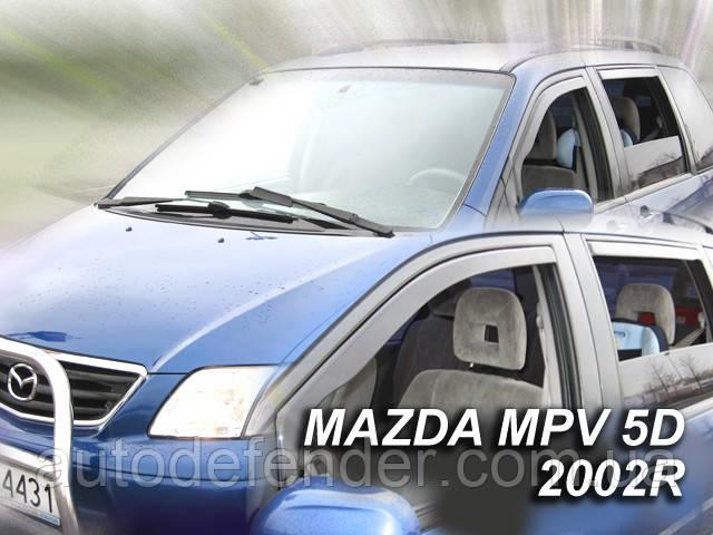 Дефлекторы окон (вставные!) ветровики Mazda MPV 1999-2006 4шт., HEKO, 23137
