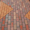 "Плитка тротуарна ""Цегла стандарт"" Графит (черная) на сером цементе - 240 грн кв.м., фото 3"