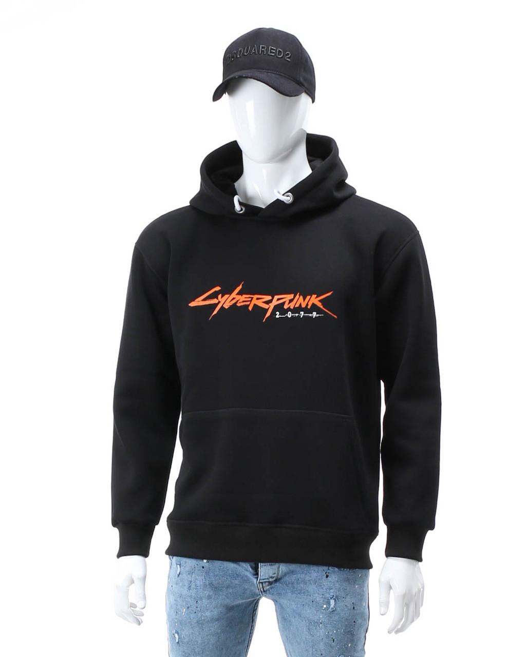 Худи осень-зима черный HOPE с принтом Cyberpunk Т-2 BLK XXL(Р) 20-590-203