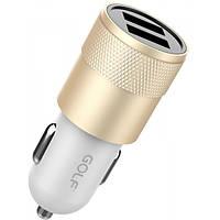 Автомобильное зарядное устройство GOLF GF-C13 2 USB 2.1 A Gold
