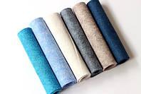 Набор американского мягкого фетра Pugovichok Тропическая волна 6 цветов для рукоделия и творчеств, КОД: 128658