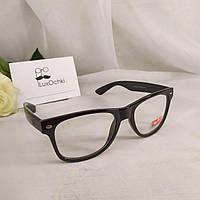 Стильные имиджевые очки Ray Ban Wayfarer в глянцевой оправе