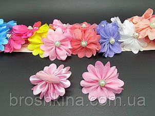 Резинки для волос Цветочки Ø6 см цветные 20 шт/уп.