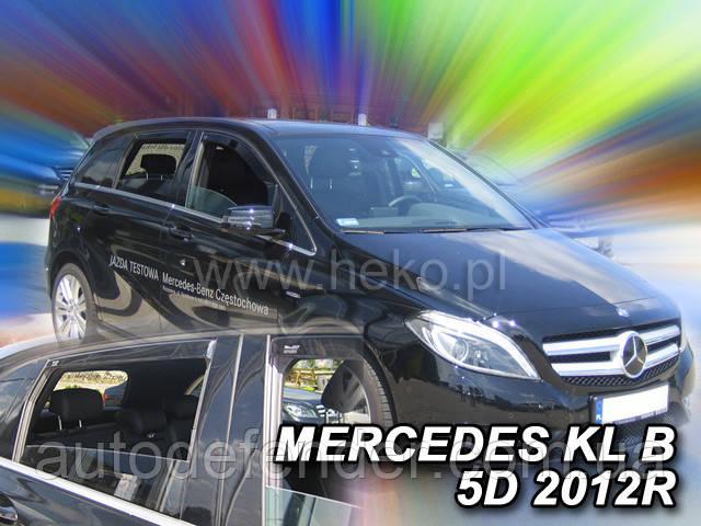 Дефлекторы окон (вставные!) ветровики Mercedes-Benz B-class W246 2011-2018 4шт., HEKO, 23278