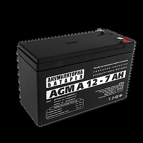 AGM Аккумулятор LogicPower A12-7 (12 Вольт, 7 Ач), фото 2