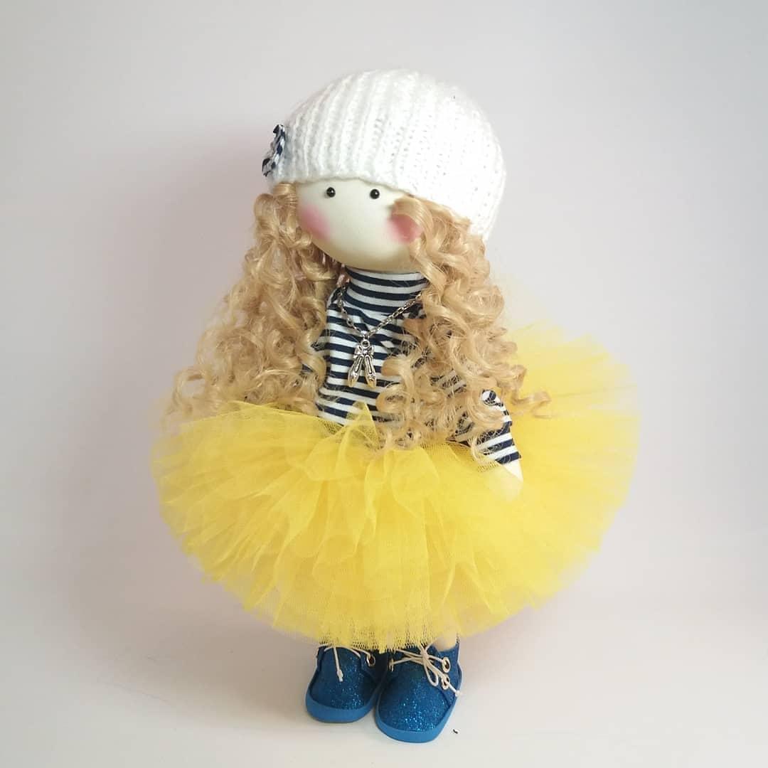 Текстильна інтер'єрна лялька, лялька-миша  як подарунок близькій людині