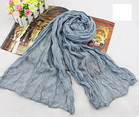 Женский шарф 138х72 см Серый АL703075, КОД: 1493360