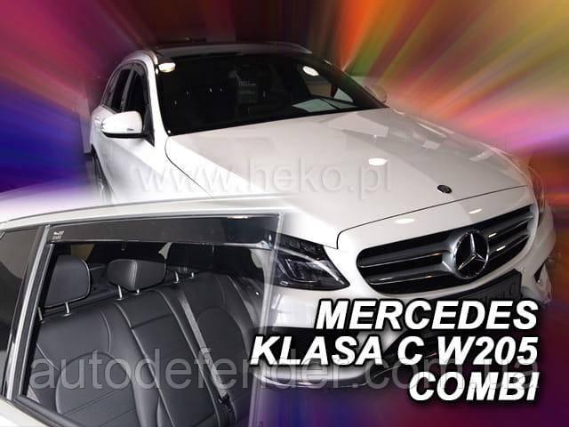 Дефлекторы окон (вставные!) ветровики Mercedes-Benz C-class W205 2014-2020 combi 4шт., HEKO, 23292