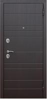 Дверь входная металлическая Барселона 73мм Венге/Венге (Rigger; мин.плита) 2 замка