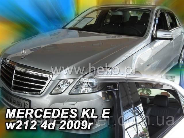 Дефлекторы окон (вставные!) ветровики Mercedes-Benz E-class W212 2009-2016 4D Sedan 4шт., HEKO, 23275