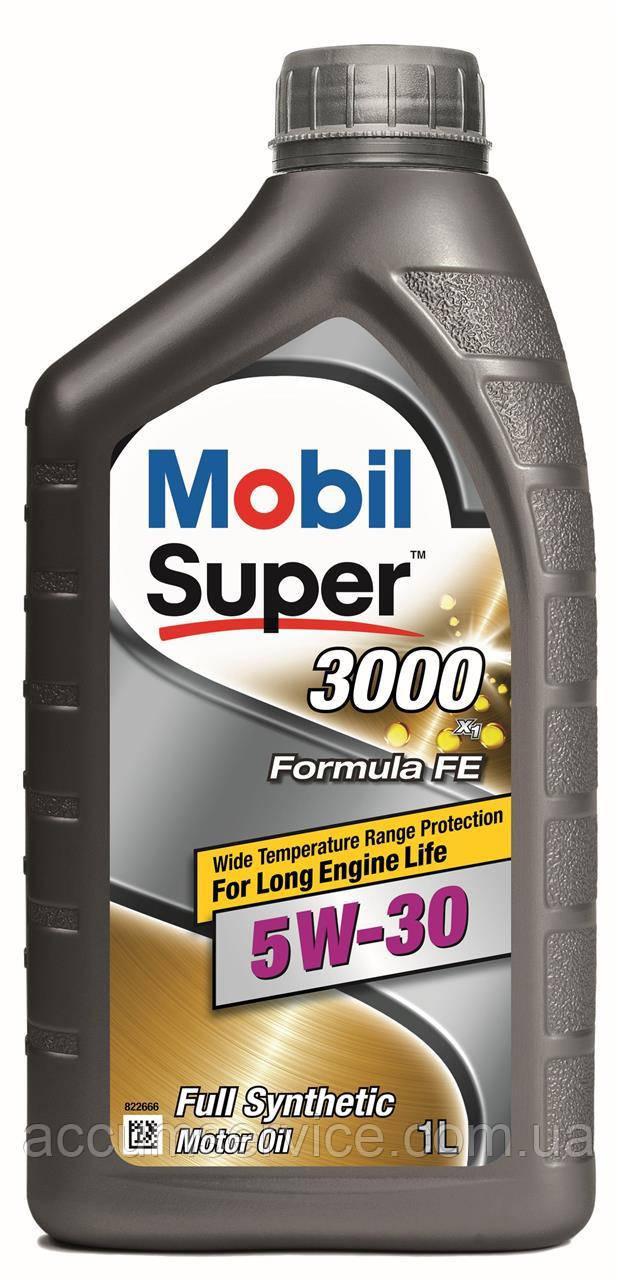 Олива моторна Mobil Super 3000х1 FORMULA-FE 5W30, 1л