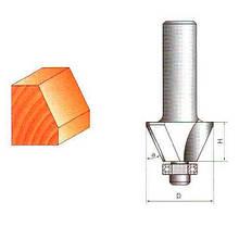 Фреза Глобус кромочна конусна з нижнім підшипником. Серія 1024.  α22,5 D31 h23 d8