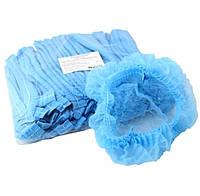 Шапочка медицинская, голубая (100 шт в упаковке)