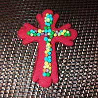 Пасхальный крестик (красный)
