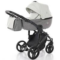 Детская коляска 2 в 1 Junama Fashion Pro 03 Бежевая с темно-серым 13-JFP03, КОД: 287168