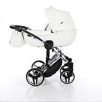 Детская коляска 2 в 1 Tako Junama Enzo Go 01 Белая на серебряной раме 13-JEG01, КОД: 287202