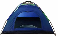 Палатка автоматическая 4-х местная СИНЯЯ